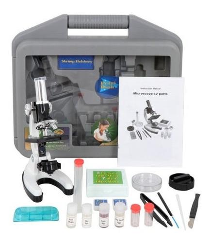 52pcs microscopio educativo portátil kit biológico microscop