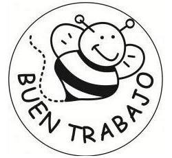 52se sello buen trabajo abeja para maestro mango madera alim