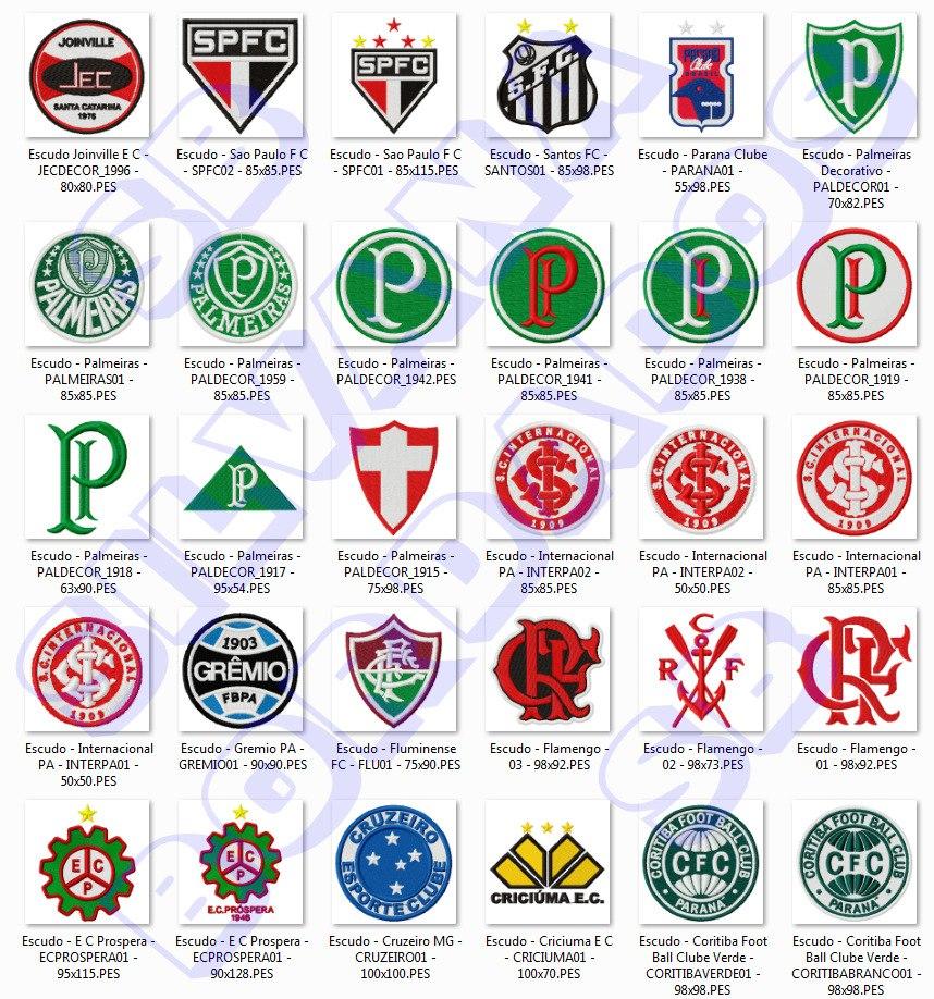 5c91542022f14 53 Matrizes De Bordados - 21 Times Do Brasil - Programa Arte - R  11 ...