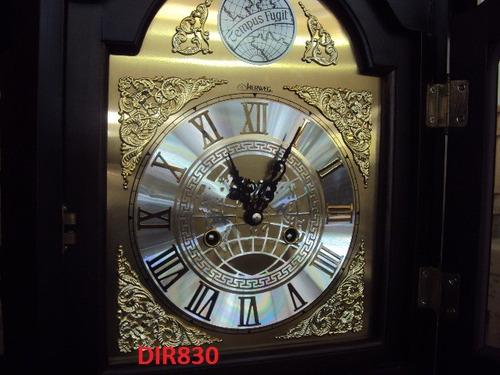 5335 relógio chão pedestal cuco carrilhão cordas herweg