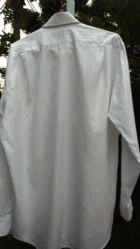 5337 camisa brooksfield branca manga longa 41 semi-nova