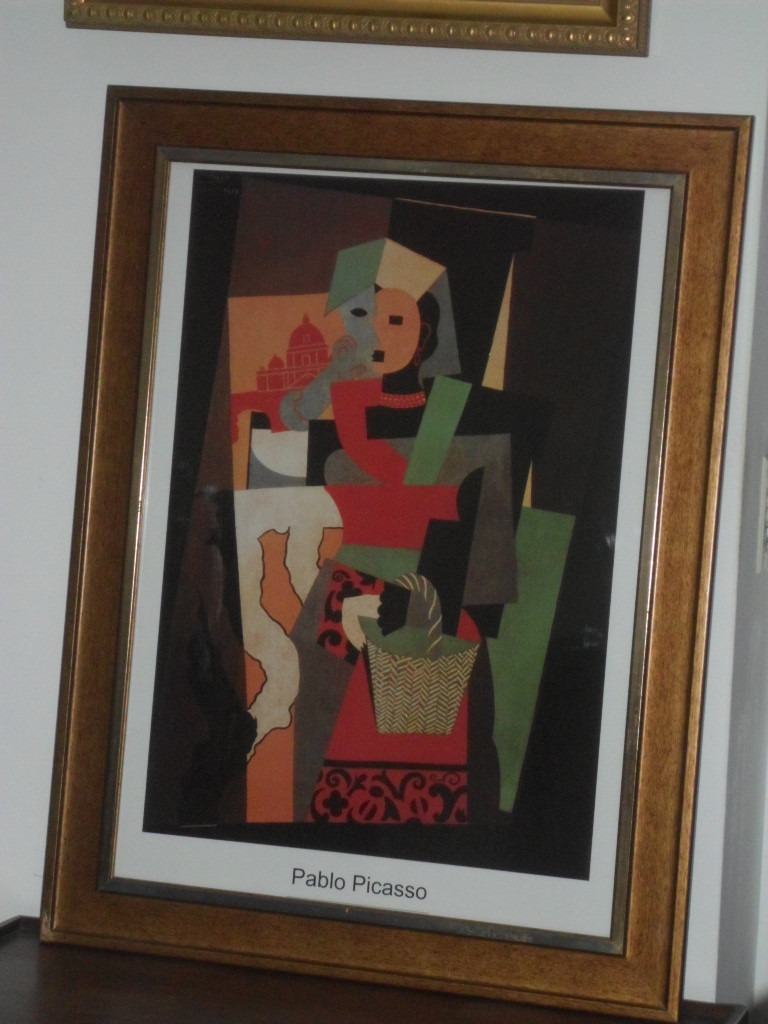 537- Cuadro Picasso Lamina Enmarcada Con Vidrio Doble Marco ...