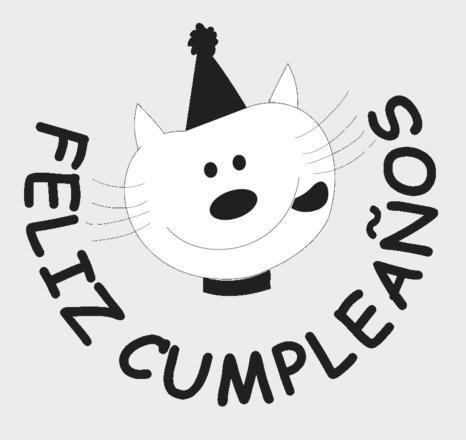 53se sello feliz cumpleaños gato para maestros madera alim