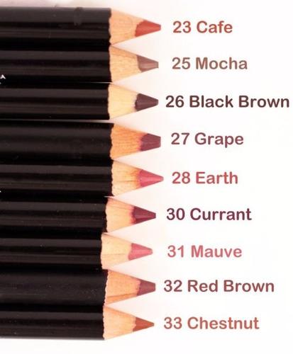 54 piezas nabi alta calidad lapices delineadores labios