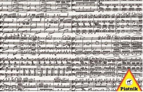 54344 notas musicales rompecabezas 1000 piezas de piatnik