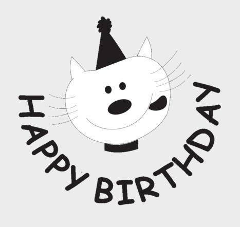 54si sello maestro cat happy birthday inglés madera alim