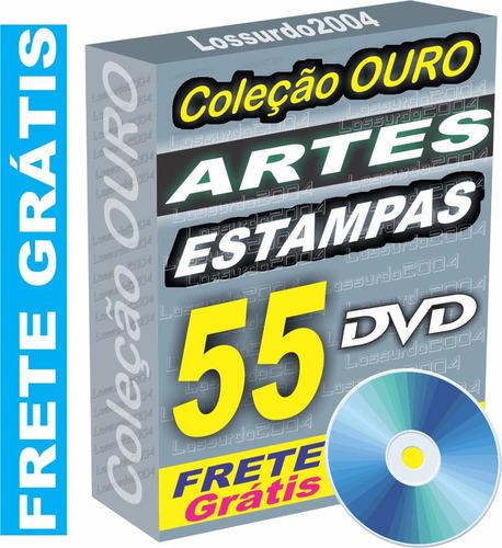 55 dvds estampas almofada chinelo caneca vetor frete grátis
