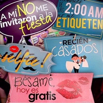 55 letreros para bodas, selfies, 15 años, envio gratis