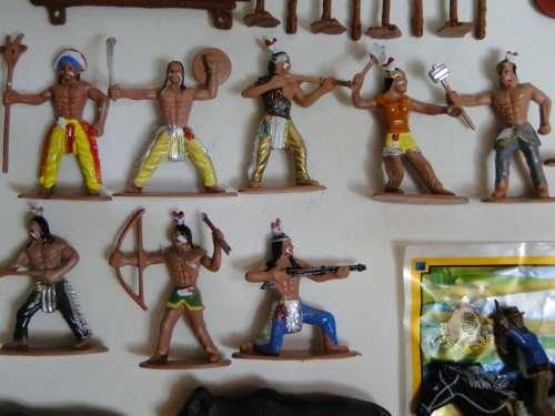 55 peças forte apache diligencia indio cowboy cavalo boi oca