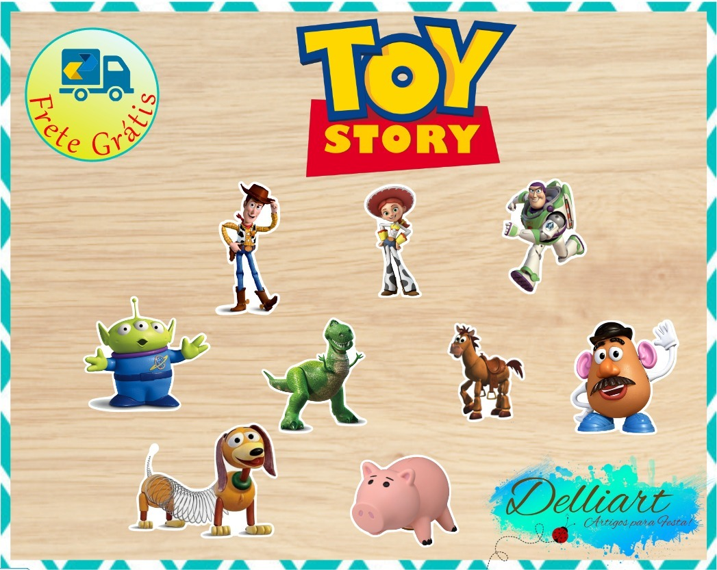 55 Recortes Topper(tags) 8cm Toy Story