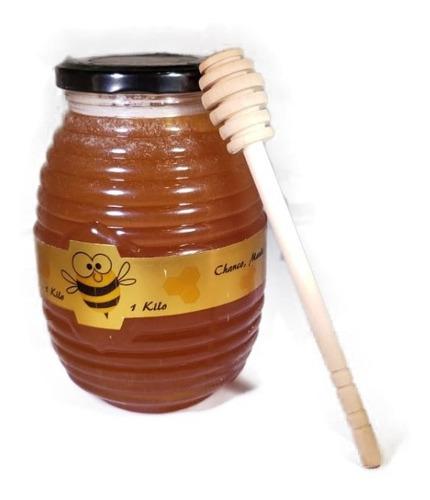 5500 1 k. miel + env. vidrio + paleta madera + bolsa reutil.