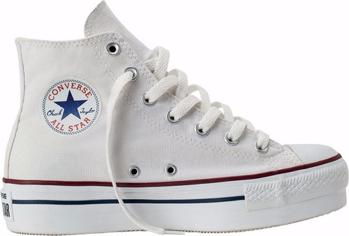 557143c converse all star platform  high blanca plataforma