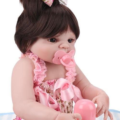 55cm niña de la muñeca reborn llena de silicona y vinly cu