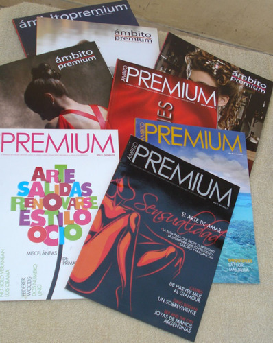 #56. lote revistas ámbito premium