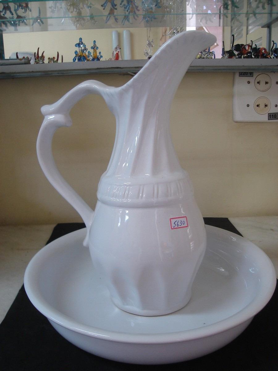 5630 jarro e bacia media de porcelana branca r 78 for Marcas de vajillas de porcelana