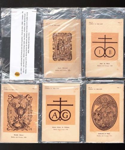 5658 cinco postais ex-libris espanha déc 40