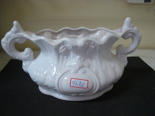 #5672# floreira de porcelana branca!!!