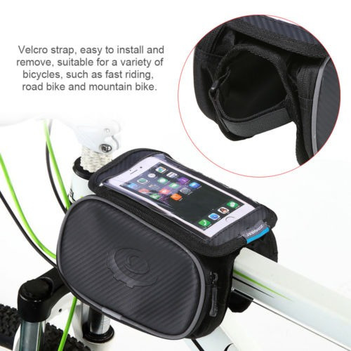 5.7 ciclismo bicicleta teléfono bolsa doble marco frontal
