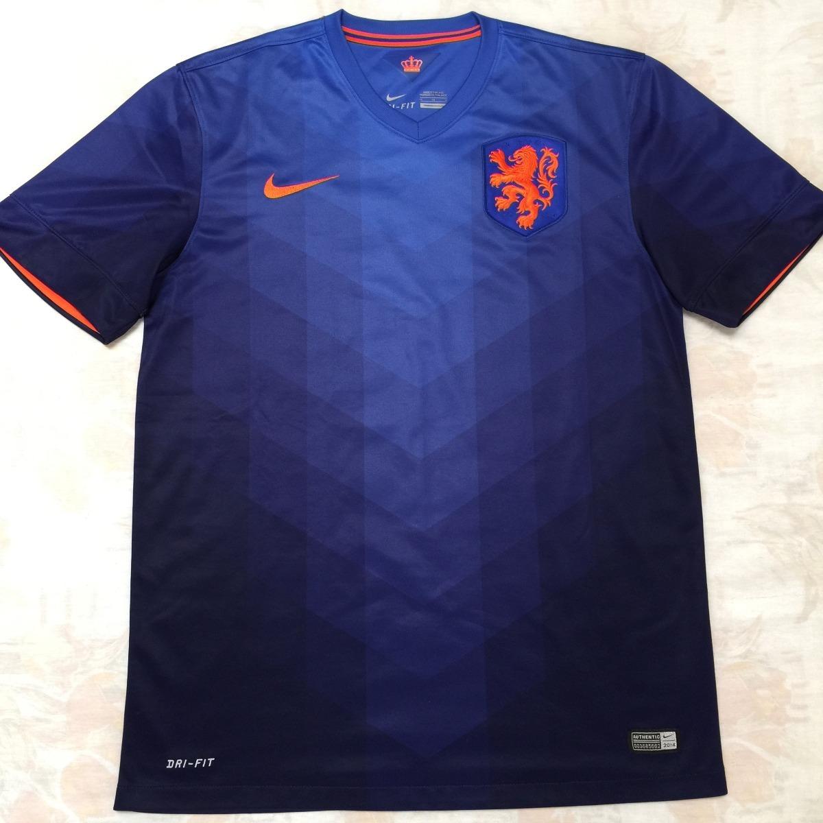 cb8bc75398 577963-471 Camisa Nike Holanda Away 2014 M Azul Fn1608 - R  1.999