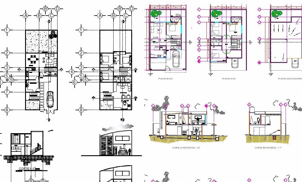 580 planos de casas y proyectos arquitect nicos kit desc for Plantas arquitectonicas de casas