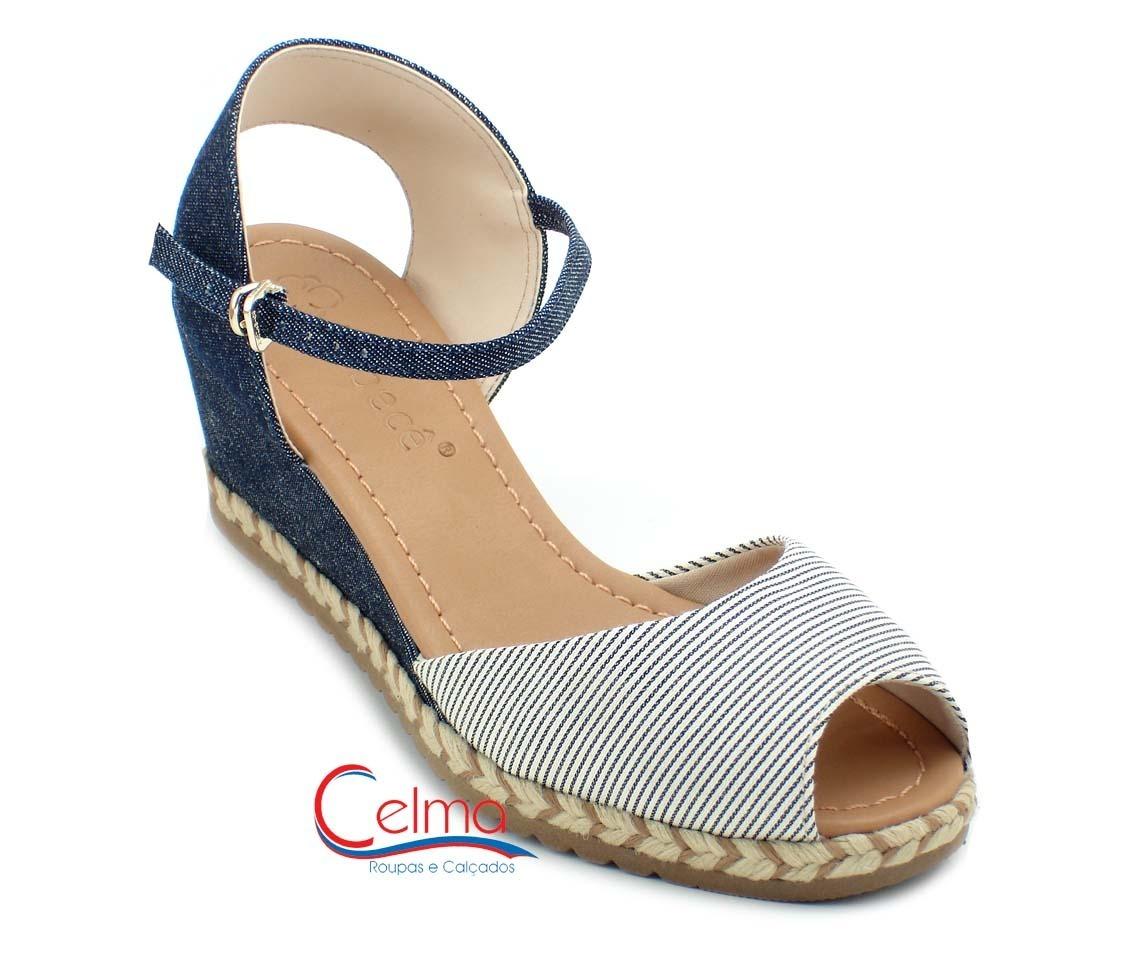 296f6e56e 5814541 sandália bebecê anabela gaspea jeans. Carregando zoom.