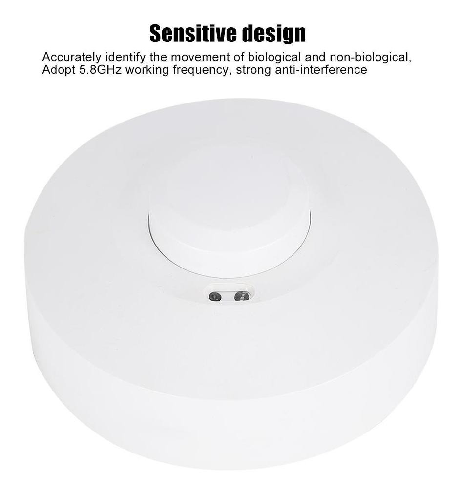 Rosilesi Sensor de microondas Radar Sensor de microondas Detector de Movimiento L/ámpara de luz Interruptor de Soporte de portal/ámparas