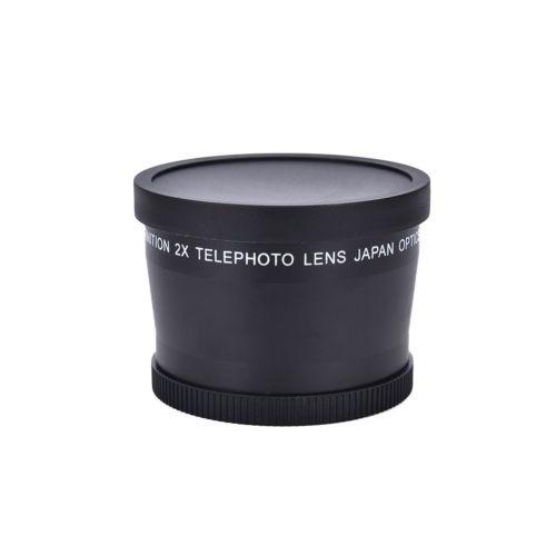 58mm 2.0 x magnificación telefoto tele convertidor lente par