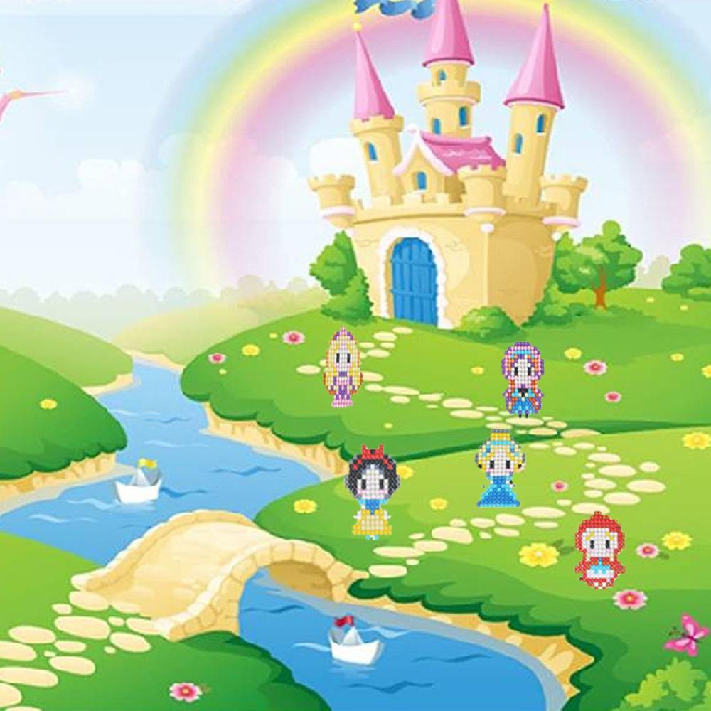 5d Diamante Diy Pintura Bonitinho Desenho Animado Princesa D R