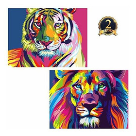 5d Diamond Painting Tiger Y Lion Full Drill By Number Kits P