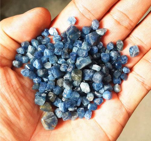 5gr 25 ct zafiros bruto hexano 100% naturales reiki talisman