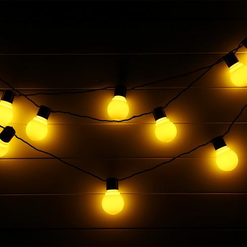 5m 20 leds mundo de hadas cadena de luces de la ue-blanco