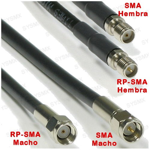 5m cable blindado para antena wifi baja perdida rp-sma