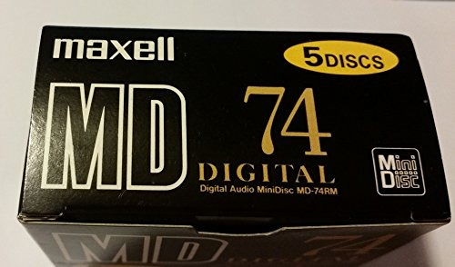 5maxell digital recordable md minidiscs 745pack  up shop