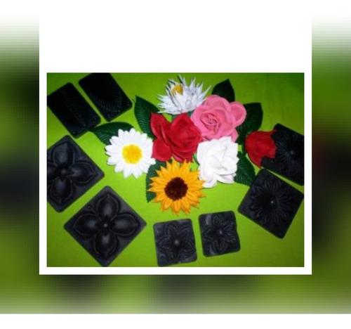 5moldes tickas rosa marg, sep, mariposa hoja p/flores g,eva