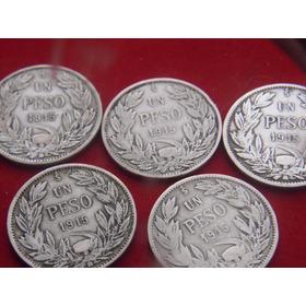 5,,monedas  Nacionales  De Platas Años 1915