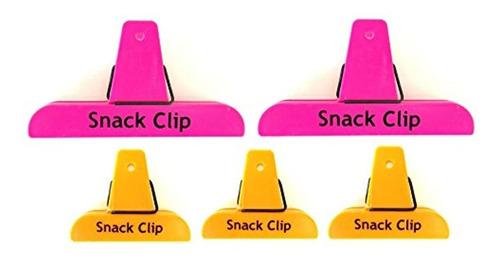5pc alazco neón colores bolsa de valor juego de clips