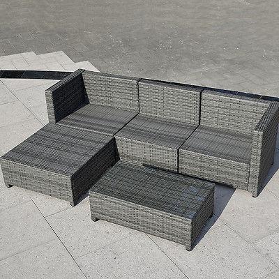 5pc Patio Rota Sofá Set Acolchado Muebles De Jardín De - $ 2.500.990 ...