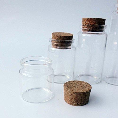 5pcs de 50 ml pequeños frascos de vidrio con tapas de corc