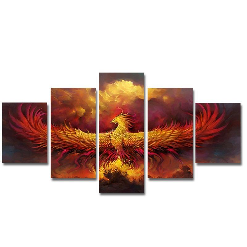 5pcs Fantasía Fénix Sin Impresión De Aceite Marco Color - $ 66.036 ...
