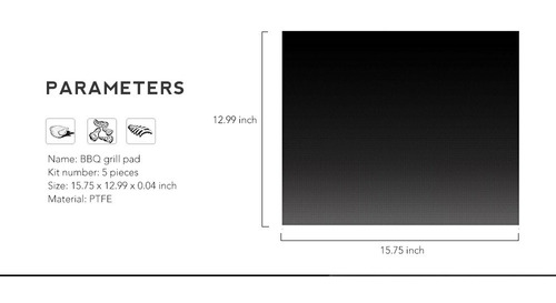 5pcs multipropósito resistente al calor non -stick bbq parr