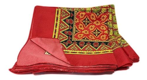 5pzs paliacate rojo pañuelo moda estampado