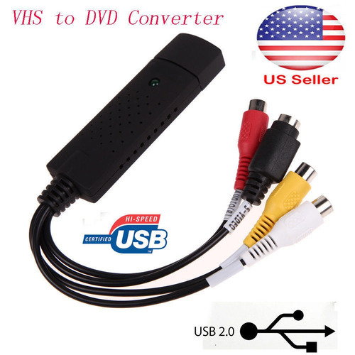 5v dc usb 2.0 video audio vhs a dvd adaptador de tarjeta de