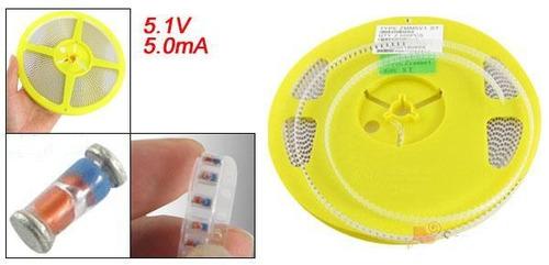 5x 5.1v smd zener diode 1206 silicon smt 5v1