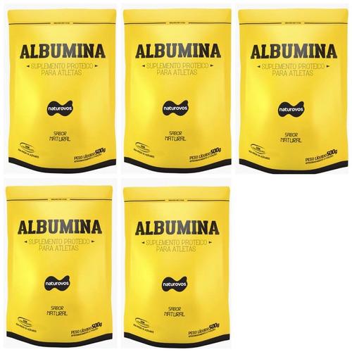 5x albumina 500g naturovos (sabor natural) - val 6/2020