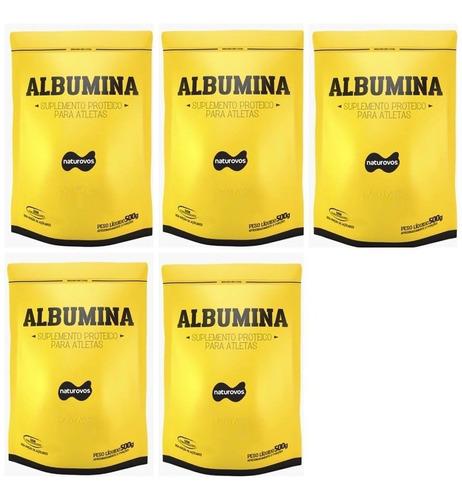 5x albumina 500g naturovos total 2,5kg envio imediato