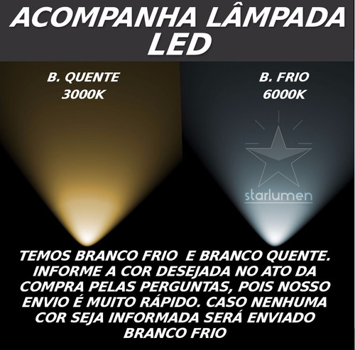 5x arandela box efeito 2 fachos + lâmpada led g9 5w st891