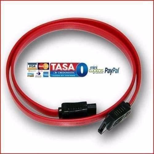 5x cables serial sata rojos pc disco duro galaxy linux mac