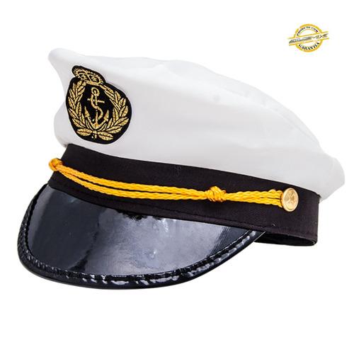 5x chapéu marinheiro quepe boina capitão fantasia festa
