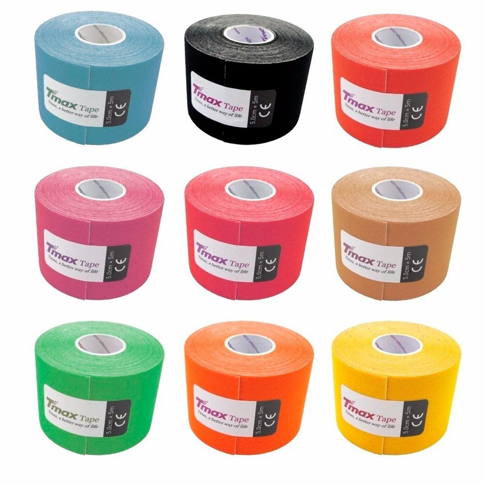 6fc82da926 5x Fita Kinesio Tape Tmax Bandagem Elastica 5x5azul Fretgra  - R  183