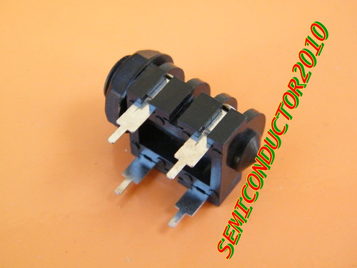 5x jack stereo mono hembra chasis 6,3mm para chasis placa